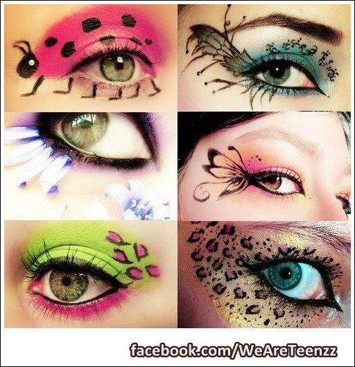 Adorable animal/insect eye makeup!!