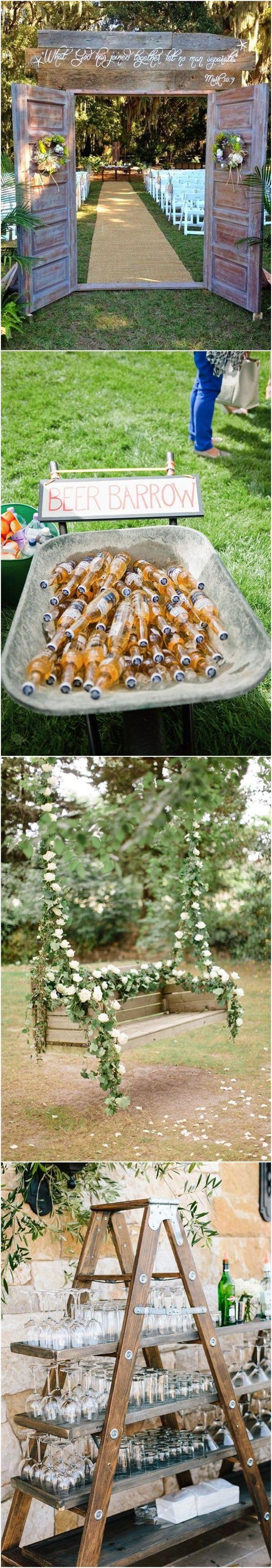 22 Rustic Backyard Wedding Decoration Ideas on A Budget ...