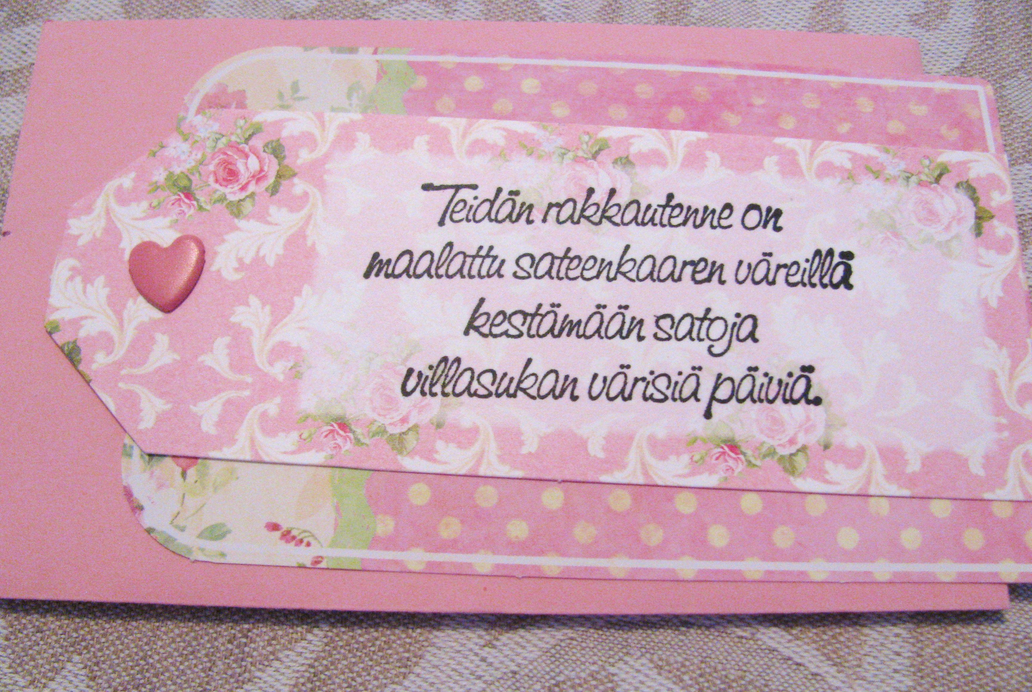 kortis sisällä oleva erillinen tagi.