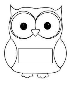 name coloring pages print out | Owl name tags | Classe thème hibou, Rentrée des classes ...