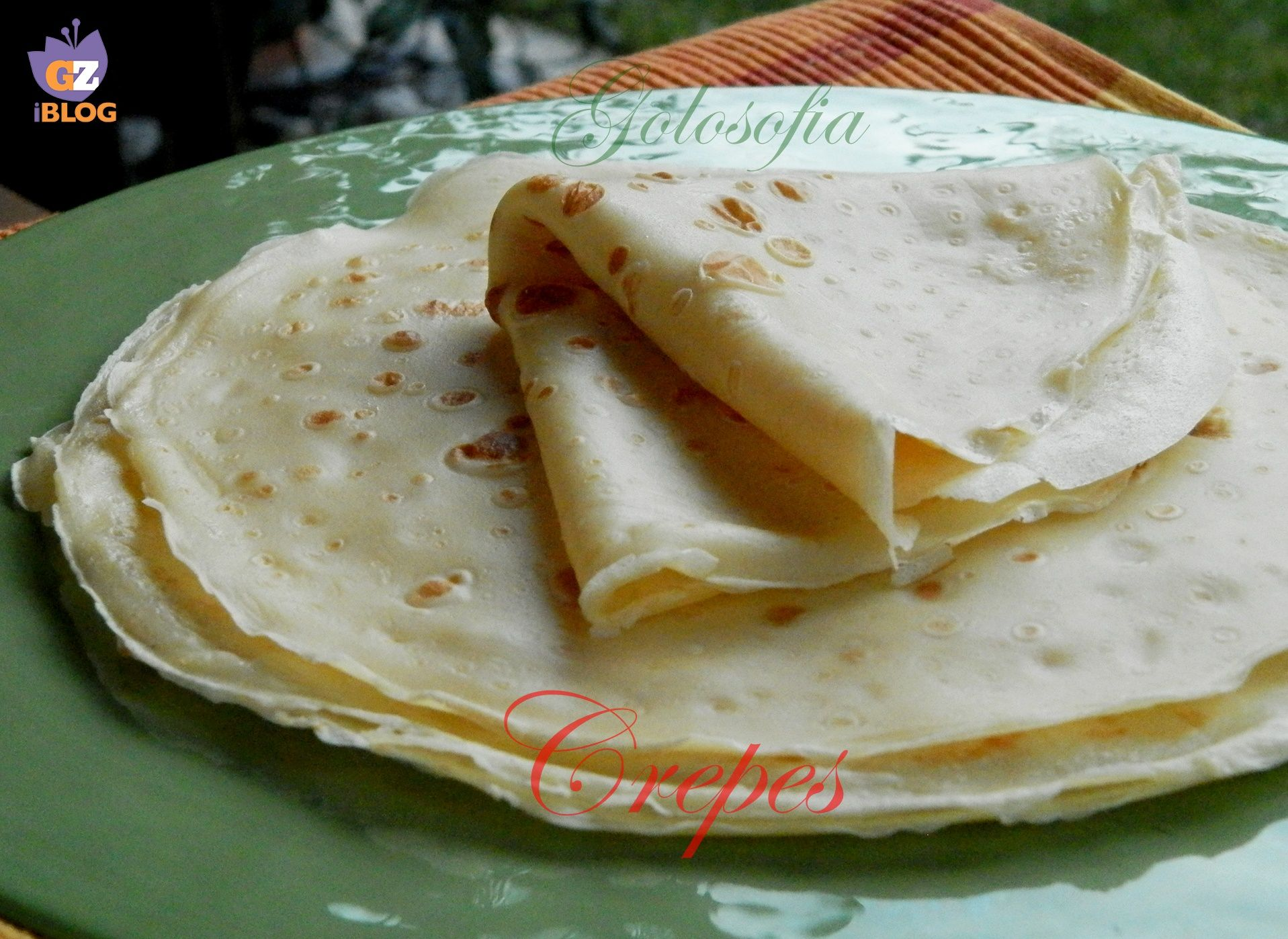 Ricetta delle crepes senza burro