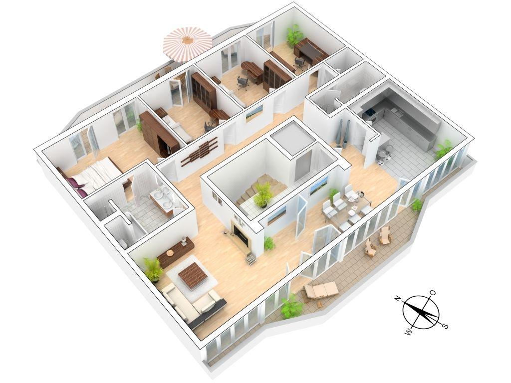 Haus grundriss 3d 70znyoedy h user pinterest for Minimalistisches haus grundriss