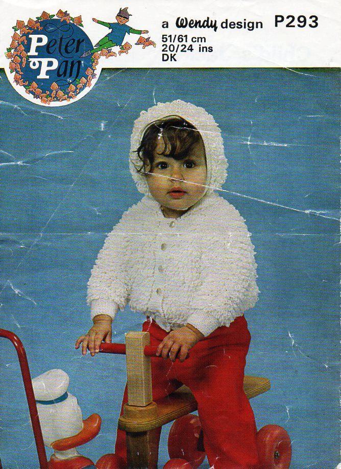 Baby Loop Stitch Jacket Bonnet Knitting Pattern Pdf Loopy Cardigan