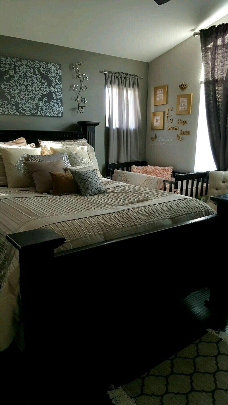 Bedroom Arrangement With A Crib