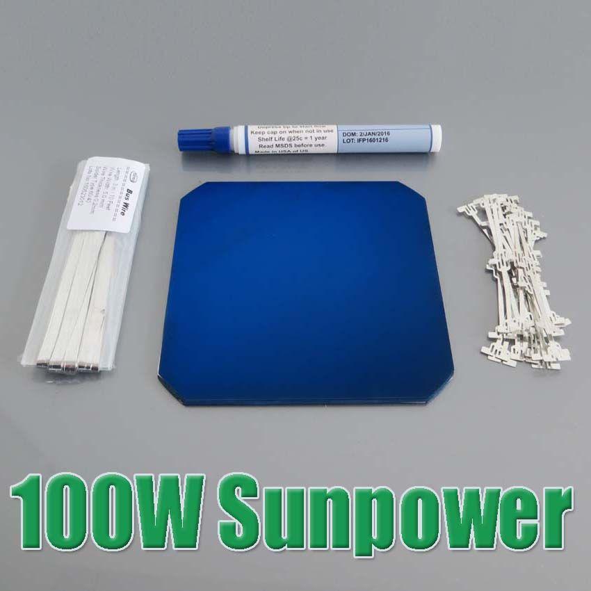 Best Price Diy 100w Sunpower Maxeon C60 Solar Panel 21 8 High Efficiency 32pcs X 3 34w For Flexible Solar Panel Wy 100w Sunpower Maxeon Solar Panel 21 8