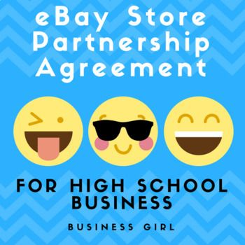 Business Writing eBay Store Partnership Agreement (Business