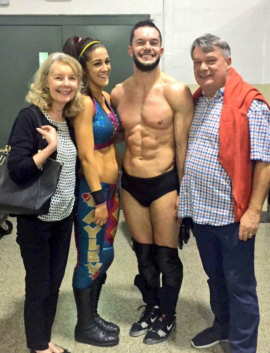 Finn Balor, Bayley, His Mom, Dad