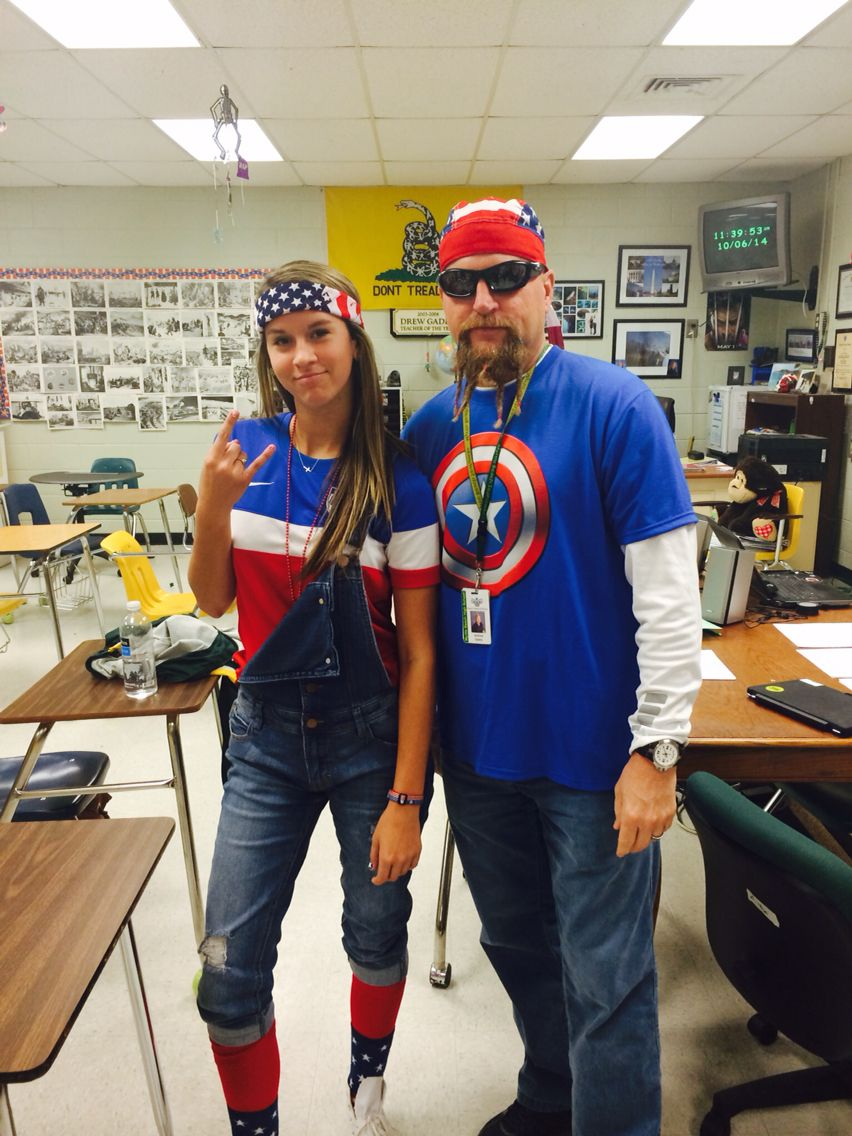 Easy and cute america day outfit me and my teacher