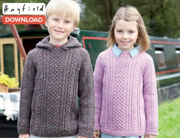 Free Hayfield Raglan Sweater Pattern Crocheted Pinterest Aran