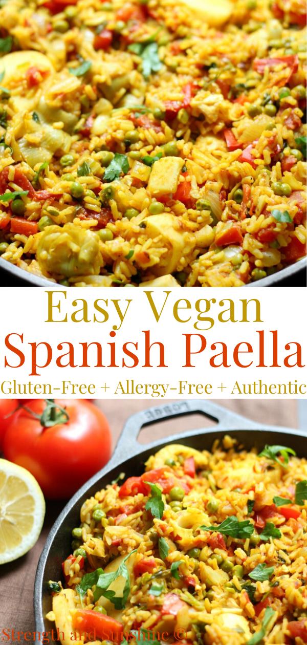 Easy Spanish Vegan Paella Gluten Free Allergy Free Recipe In 2020 Paella Recipe Recipes One Pot Vegetarian