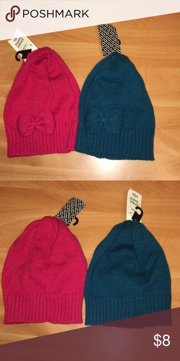 c33edfa20 2 womens beanies NWT. Hot pink and dark teal H&M Accessories Hats ...