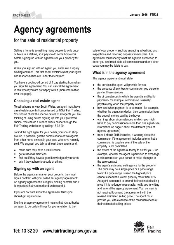 Agency agreements - for the sale of residential property Trending