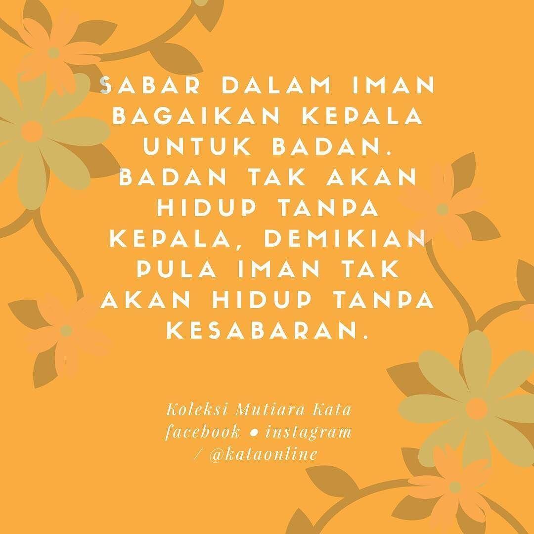 Saidina Ali Bin Abi Thalib Berkata Sabar Dalam Iman Bagaikan