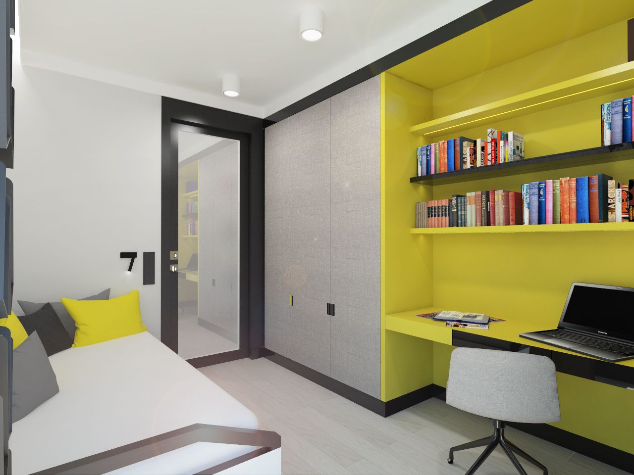Project peace for a teenager. Apartment 64m2 . Warsaw, Poland. www ...