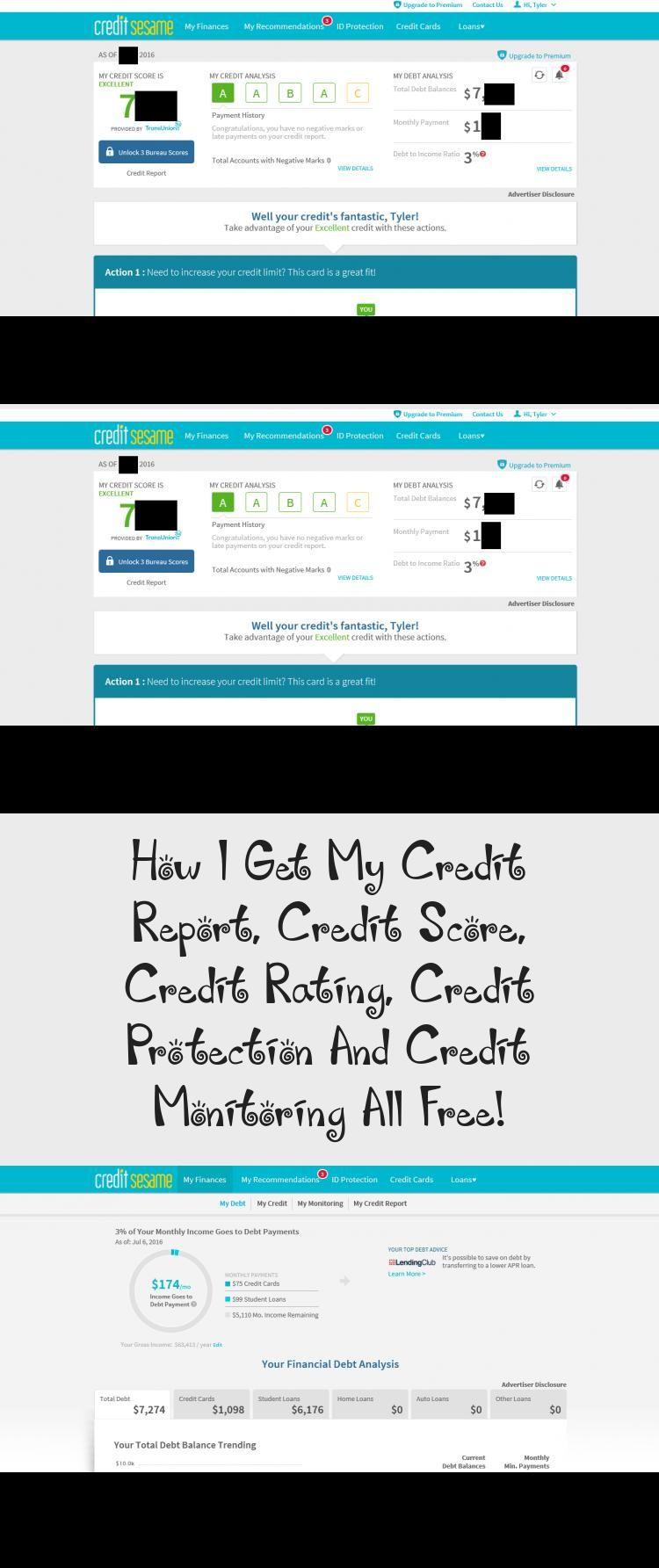 How I Get My Credit Report, Credit Score, Credit Rating