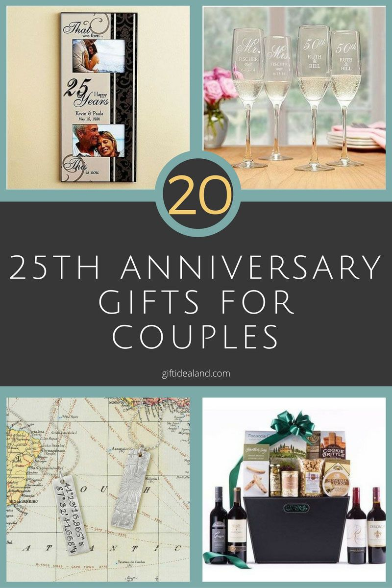 27 good 25th wedding anniversary gift ideas for him & her