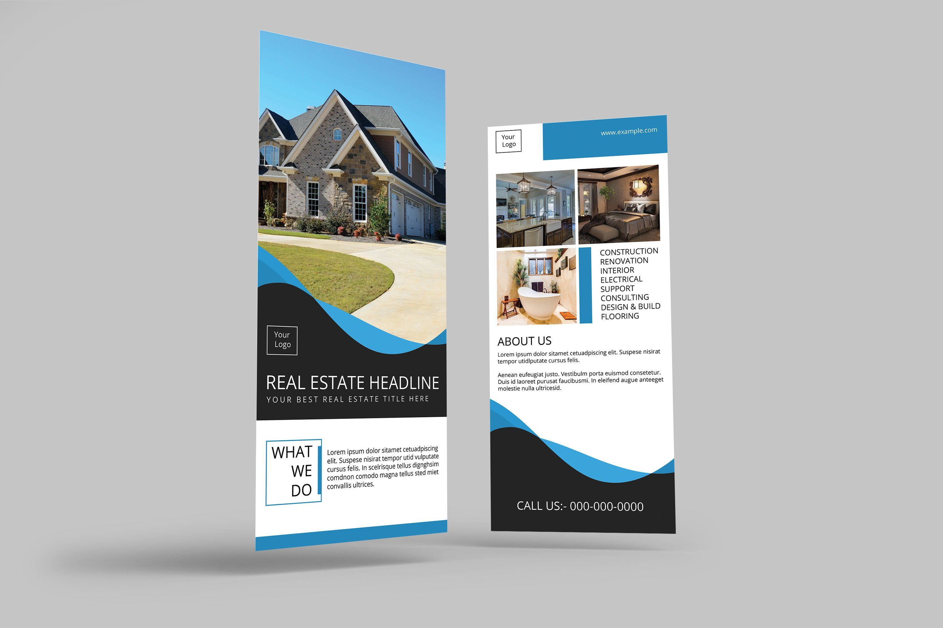 Business Rack Card Template | 4x9 In Photoshop Template ...
