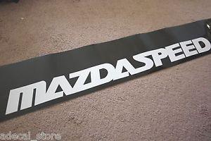 Mazdaspeed Sun Strip Visor Windshield Banner Decal Sticker JDM Mazda Miata