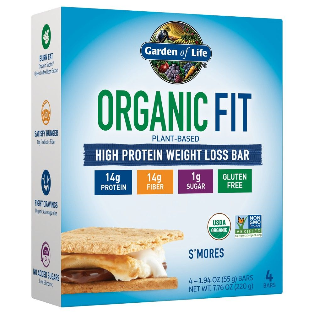 Garden of Life Organic Fit Protein Bar S'mores 4pk