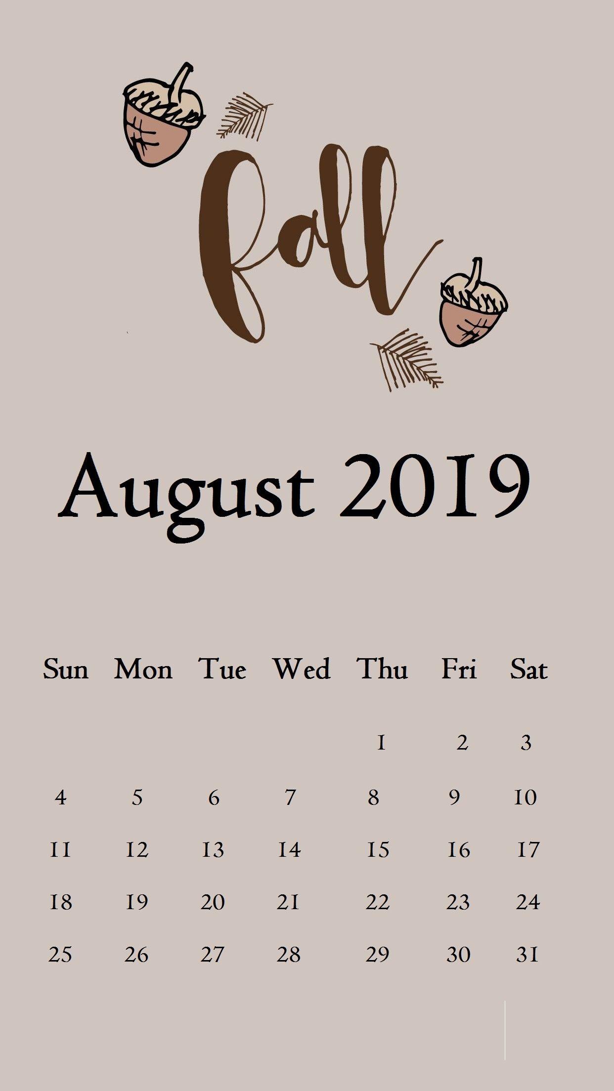 August 2019 Iphone Calendar Wallpaper Calendar 2019august 2019