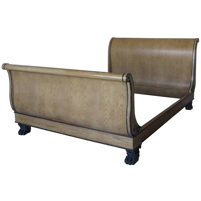 Best Vintage Baker Queen Size Sleigh Bed Sleigh Beds Modern 640 x 480