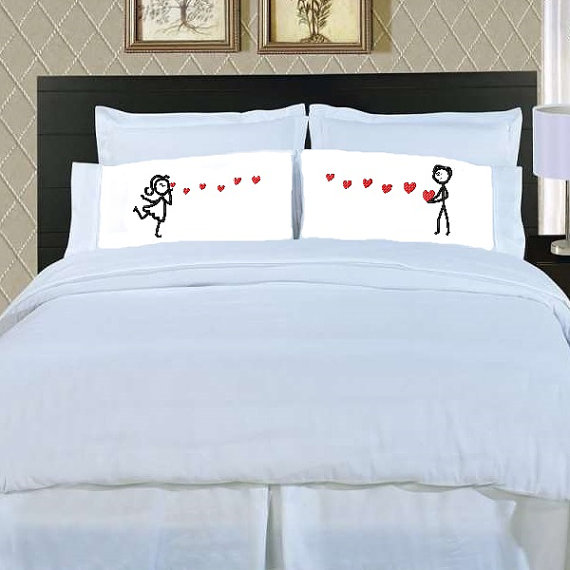 Stick People Couple LOVE Heart Embroidery Design 2 sizes on Etsy & Stick People Couple LOVE Heart Embroidery Design 2 sizes on Etsy ... pillowsntoast.com