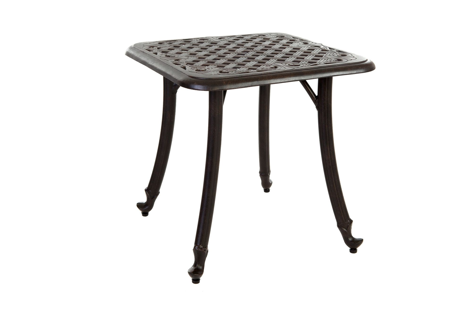 Small Round Metal Outdoor Side Table