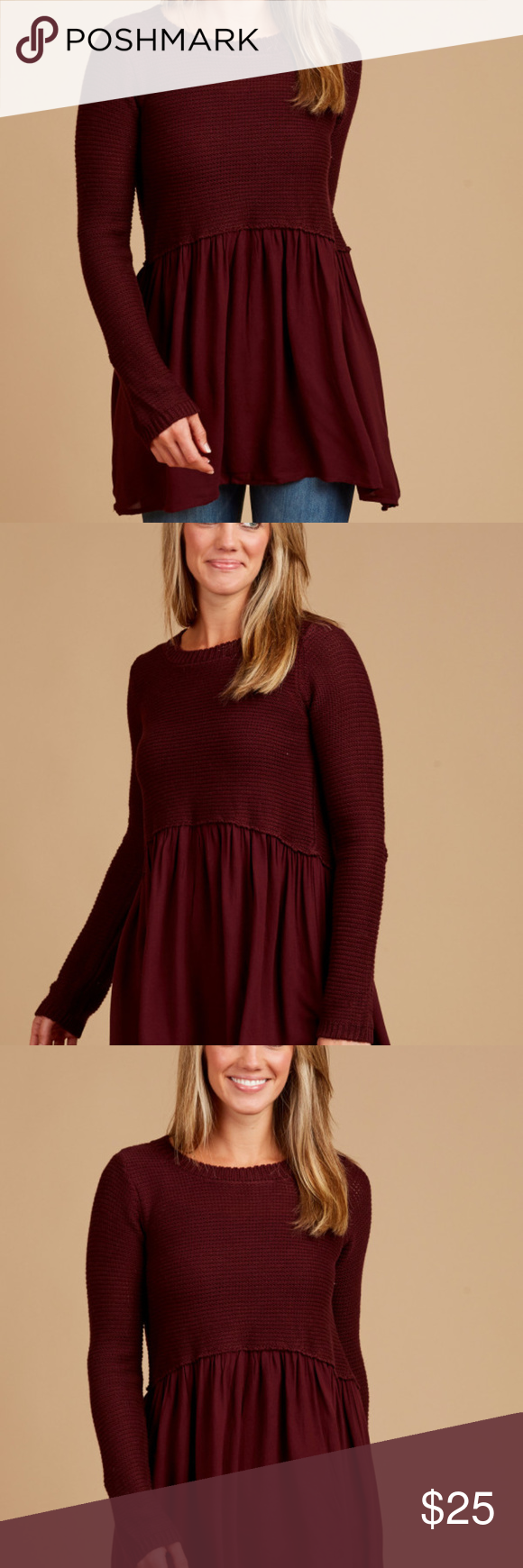 2974dc545b Altar d State Burgundy Marianna Sweater Altar d State Burgundy Marianna  Sweater in Burgundy. Size small. No signs of wear. Super comfy.