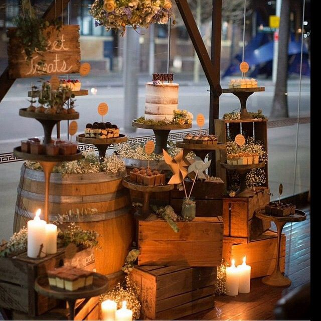 Rustic Crates/wooden Cakestands/tree Slices What A