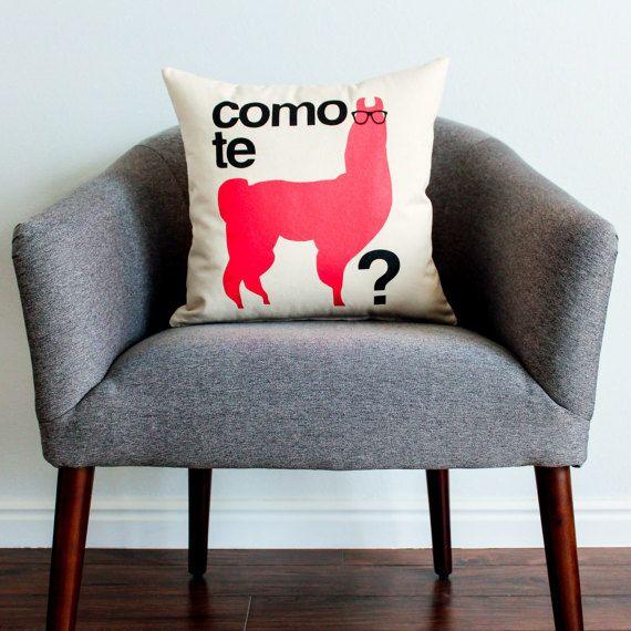 oreiller en espagnol Como Se Llama? w/ a Llama Pillow   Home Decor, Llama, Pillow  oreiller en espagnol
