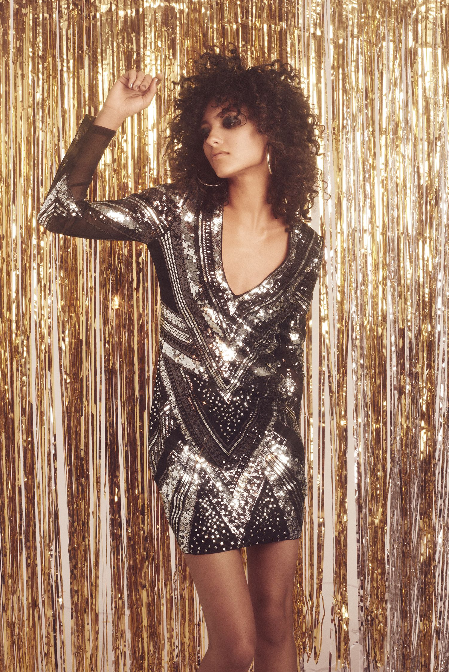 19f08d04ee2 Sparkle and shine in this Express sequin dress. Shop their Holiday  Collection now at Aventura Mall