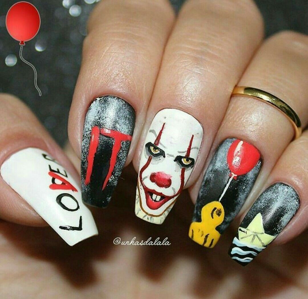Pin by chloe sinkhorn on makeup | Holloween nails ...