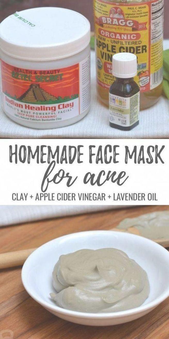 Masque simple fait maison pour l'acné! Mélangez 1 cuillère à soupe d'argile bentonite + 1 ...