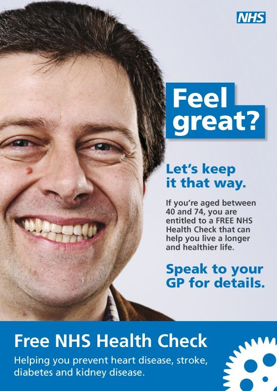 Nhs Health Checks Awareness Poster Health Check Nhs Health Check
