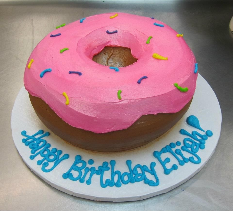 Awe Inspiring Giant Donut Cake By Stephanie Dillon Ls1 Hy Vee With Images Birthday Cards Printable Opercafe Filternl