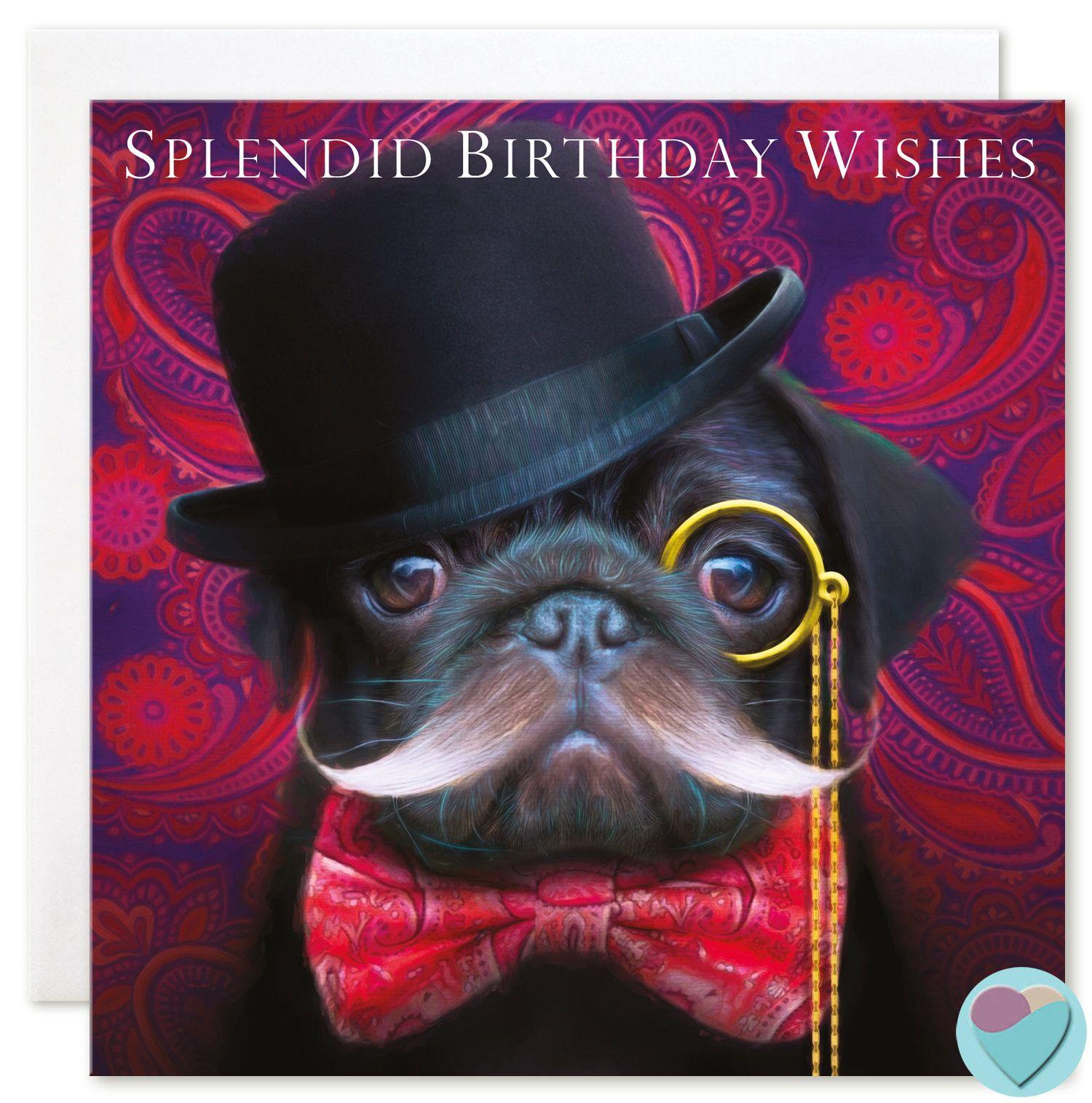 Black Pug Birthday Card For All Splendid Birthday Wishes Juniperlove Black Pug Black Pug Puppies Pug Dog Puppy