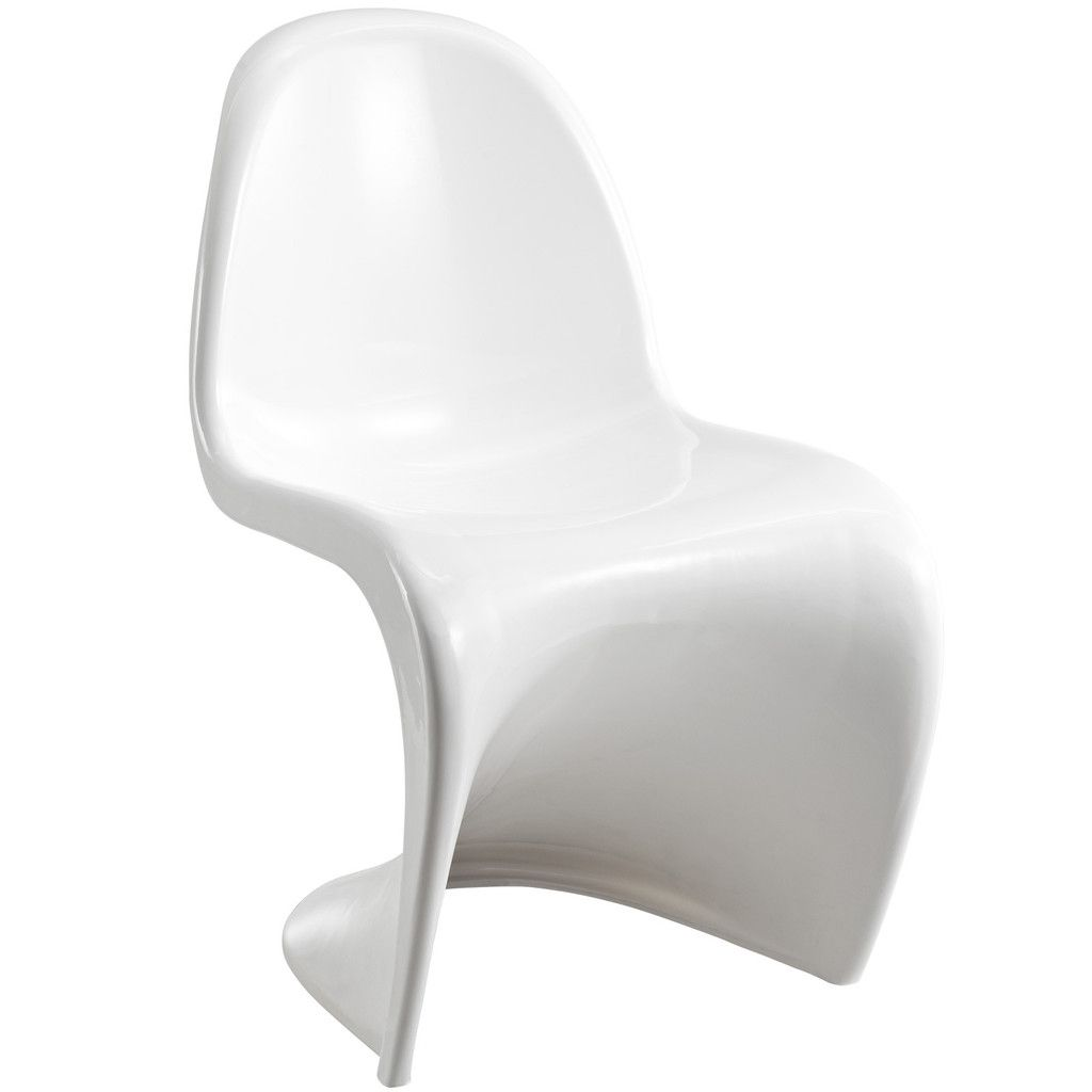 Wavy White Plastic Dining Chair Side Chairs Dining Modern Dining Side Chairs Plastic Dining Chairs
