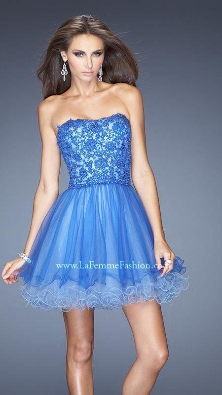 La Femme 20386 Blue Homecoming Dress