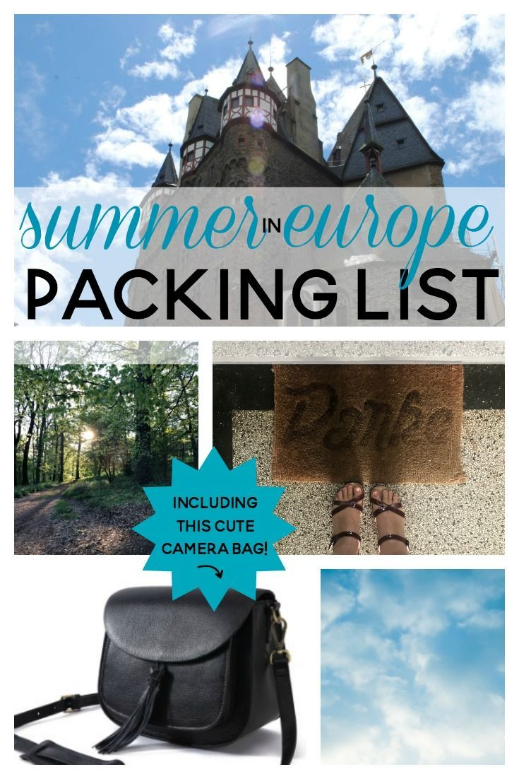 My super-easy summer packing list for one-week traveling in Germany, or Europe
