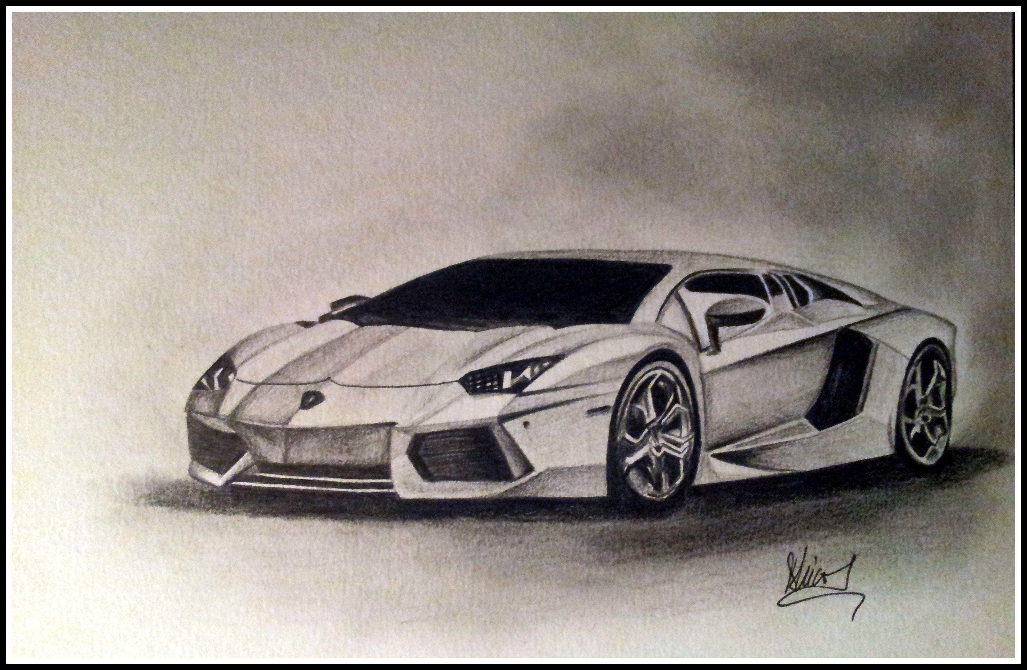 Lamborghini Drawing Car Drawings Motorcycle Drawing Mustang Drawing