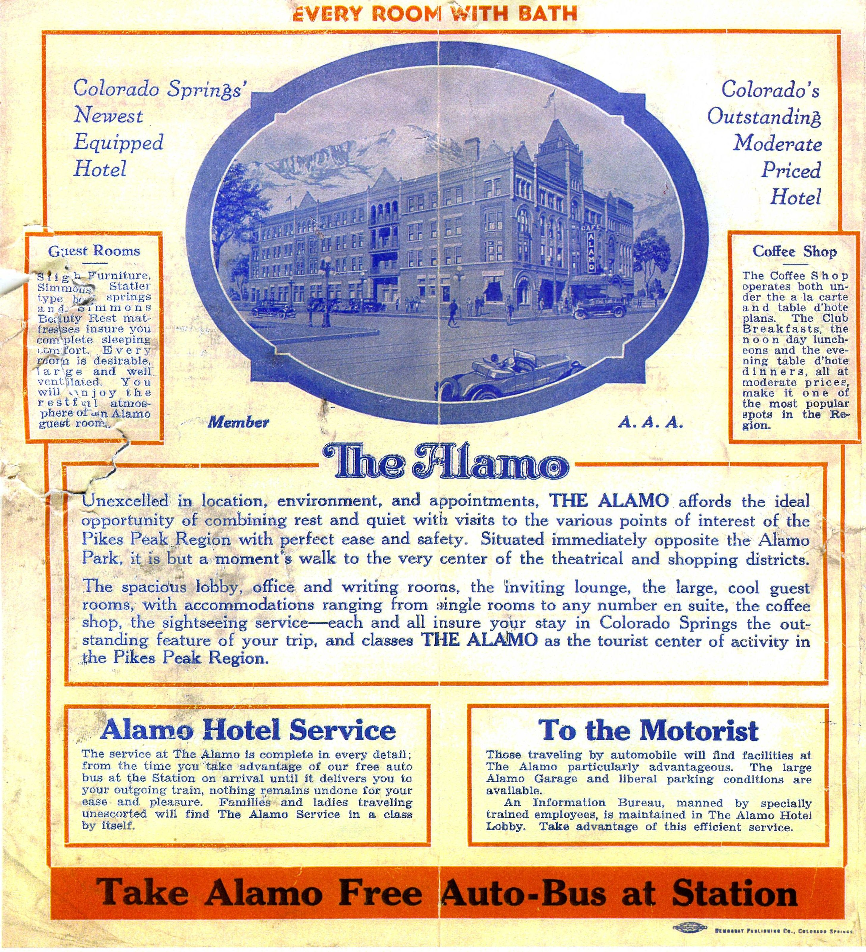 Old Picture Of The Alamo Hotel In Colorado Springs There S No