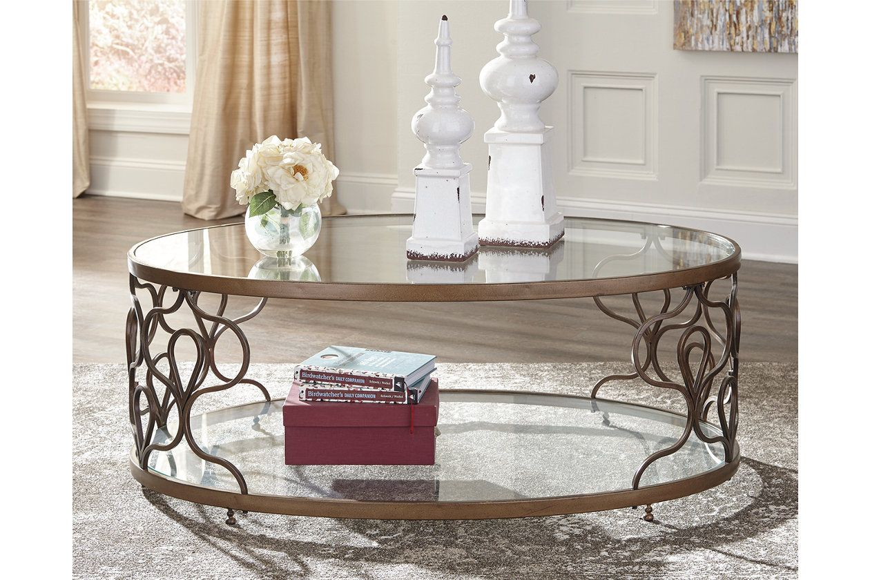 Fraloni Coffee Table Ashley Furniture HomeStore My Place Fake - Ashley furniture oval coffee table
