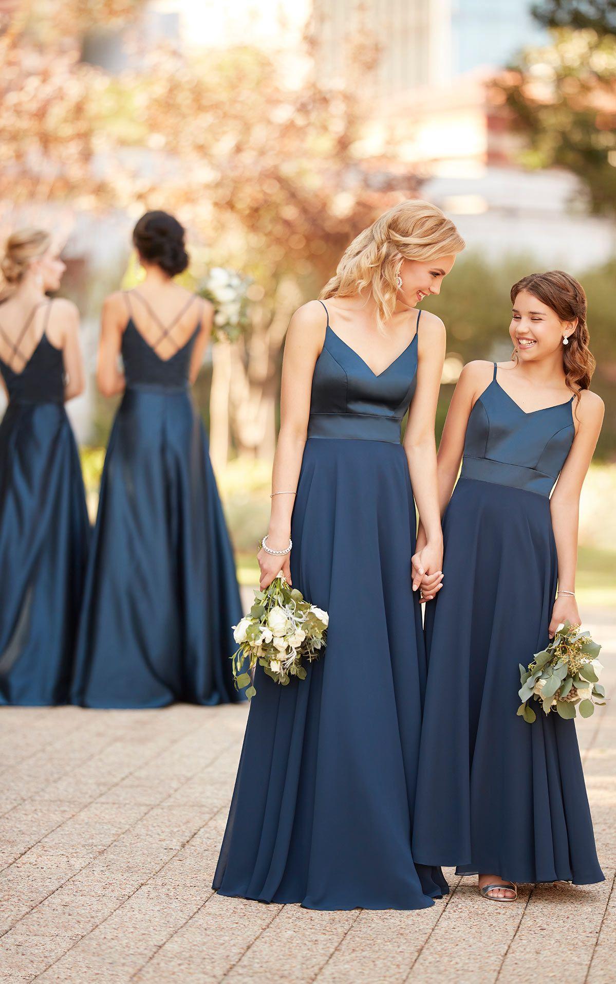7363f9626 Mixed Material Junior Bridesmaid Dress - Sorella Vita Bridesmaid ...