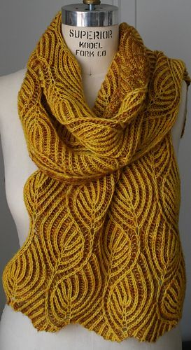 Candle Flame Lapghan   Scarf knitting patterns, Brioche ...