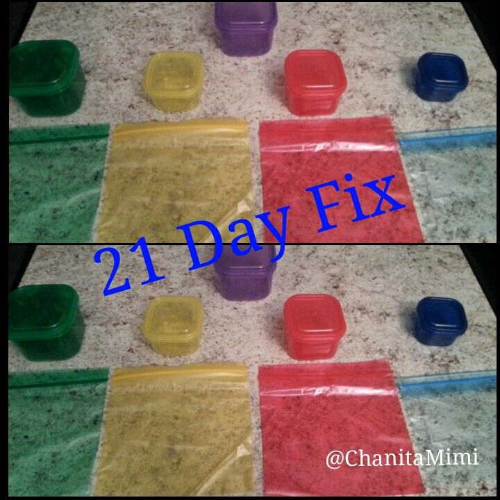 21dayfix Pre Portion Your Meals Using Colored Sandwich Bags From Target 2