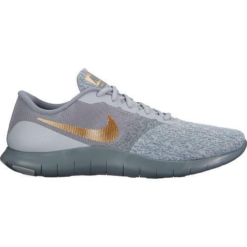 Nike Men's Flex Contact Running Shoes (Green Dark/White, Size 15
