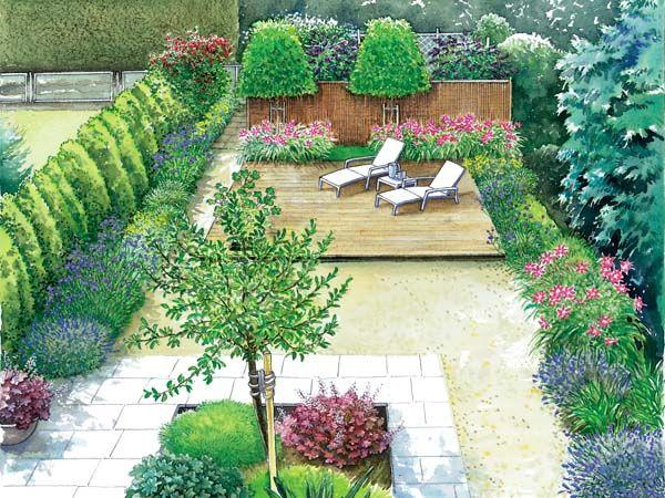 Reihenhausgarten im neuen Gewand Reihenhausgarten, Gewand und - gartengestaltung neue ideen