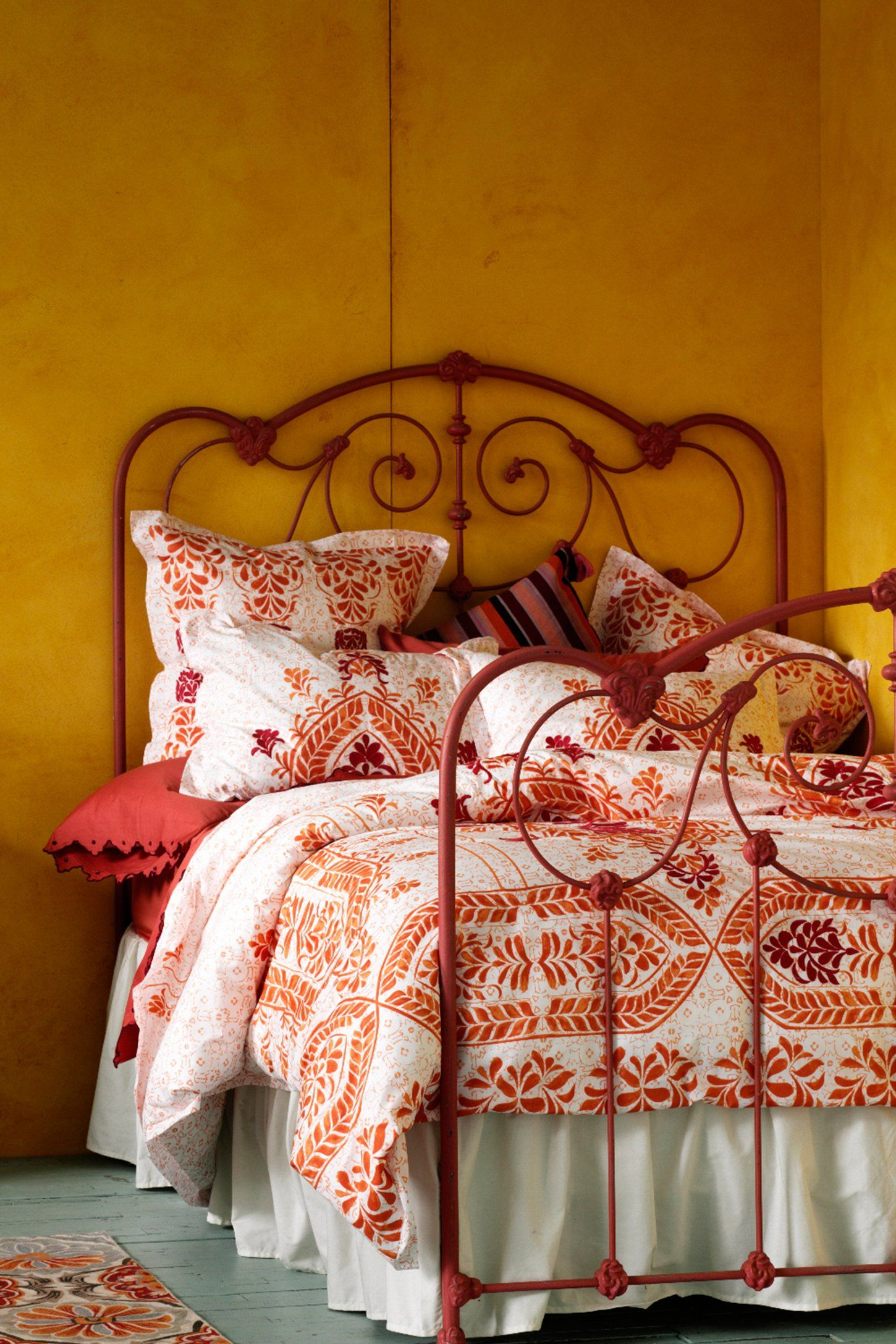 Abaza Duvet Anthropologie bedding, Orange bedding