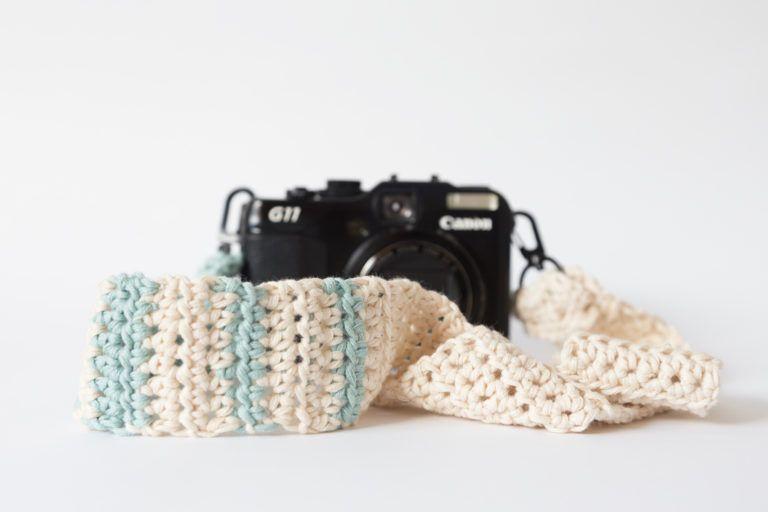 Correa de crochet para tu cámara de fotos | Patrones Gratis de ...