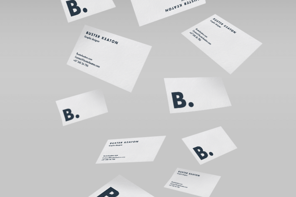 floating business card mockup PSD | Mockup, Business cards and Business